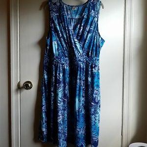 3x 22w 24w tropical print dress Vguc